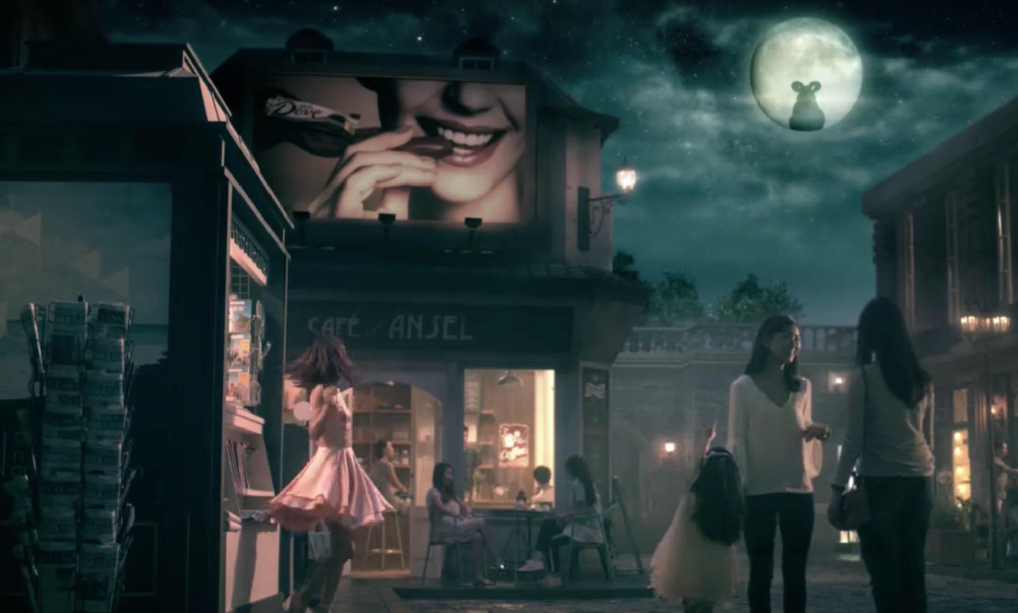 德芙巧克力推新广告,赵丽颖化身月亮女神千里寻Ta
